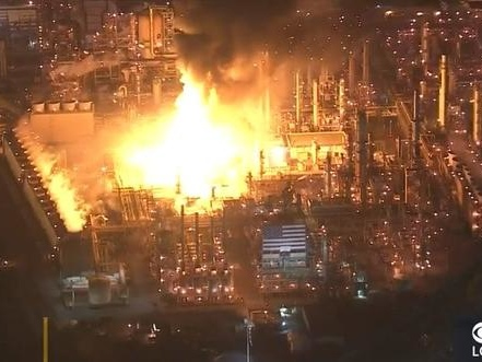 Explosion Rocks Largest Oil Refinery Plant On West Coast