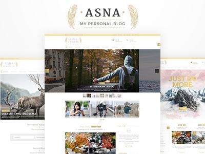 Asna | WordPress Personal Blog (Blog / Magazine)