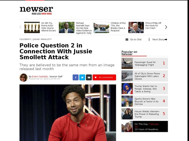 Police Question 2 in Connection With Jussie Smollett Attack