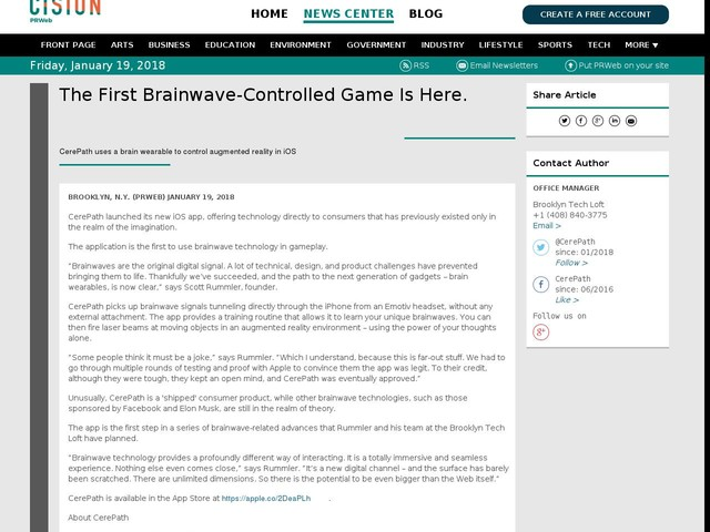 The First Brainwave-Controlled Game Is Here.