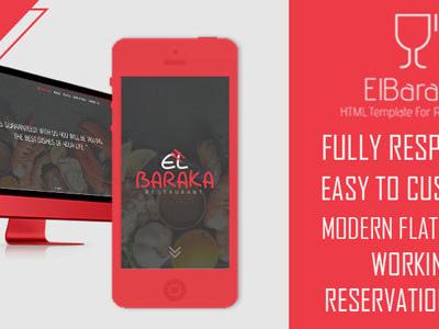El Baraka - HTML5 Template For Restaurants (Food)