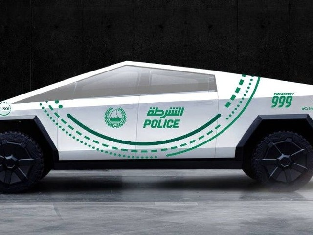 Dubai Police hinted it could add Tesla's new Cybertruck to its fleet of cars, which already includes Bugattis, Aston Martins, and Porsches