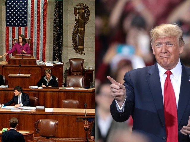 Trump created a bizarre split-screen moment by holding a campaign rally in a battleground state as the House voted to impeach him