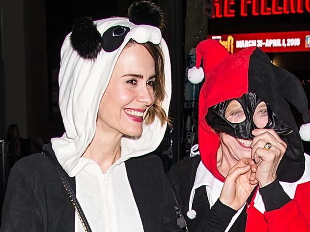 Sarah Paulson & Holland Taylor Look Cute in Their Halloween Costumes at Shyamaween 2017!