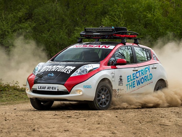 A Modified Nissan LEAF Will Compete In The 10,000 Mile Mongol Rally