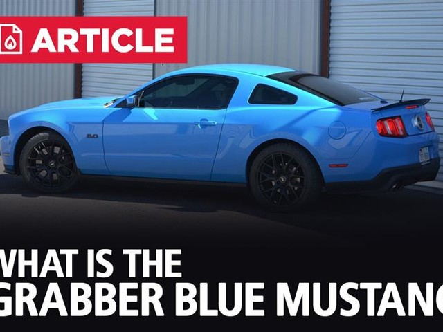 What Is The Grabber Blue Mustang?