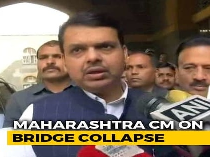 On Mumbai Bridge Collapse, Chief Minister Fadnavis Sets Evening Deadline