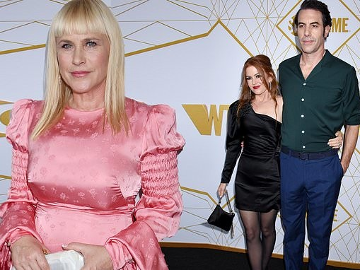 Patricia Arquette glows in pink while Isla Fisher stuns in black at the Showtime Emmy Celebration