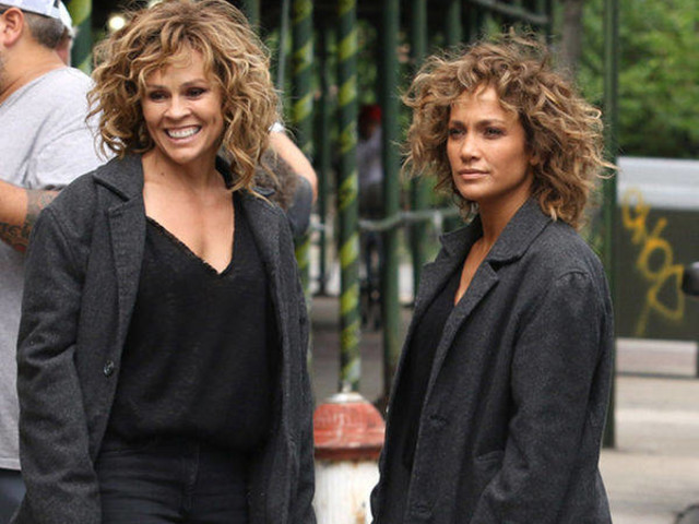 Jennifer Lopez & Stunt Double