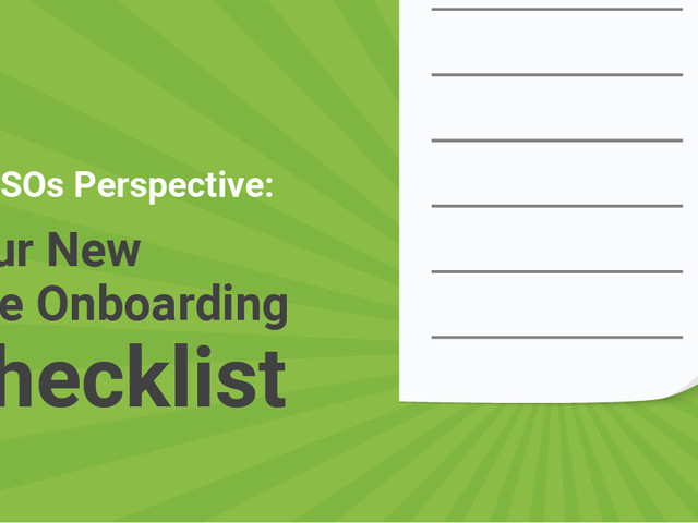 New Hire Onboarding Checklist: A CISO's Perspective
