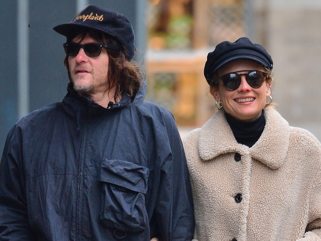 Norman Reedus & Diane Kruger Couple Up For Lunch in NYC