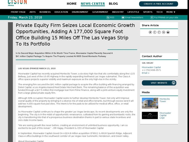 Private Equity Firm Seizes Local Economic Growth Opportunities, Adding...
