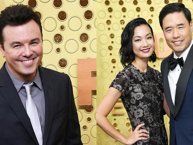 Seth MacFarlane & Randall Park Suit Up Sharp For Emmy Awards 2019