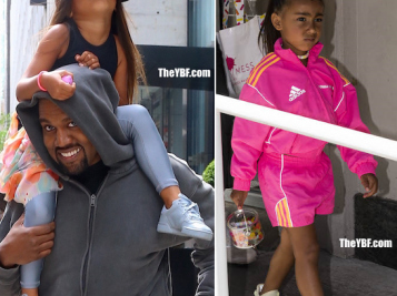 BIRTHDAY BEHAVIOR: North West Enjoys Piggy Back Ride On Dad's Shoulder, But She Was NOT Feeling It A Day Earlier With Mom