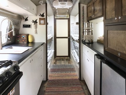 Renovated Airstream is 'Tiny Shiny Home' for family of six