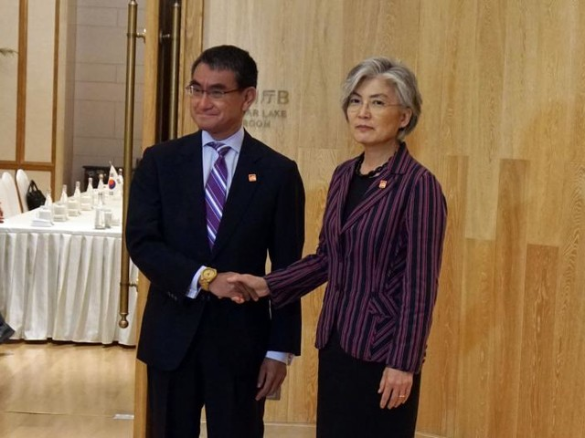 Top diplomats of S. Korea, Japan hold talks amid high tensions over trade, history