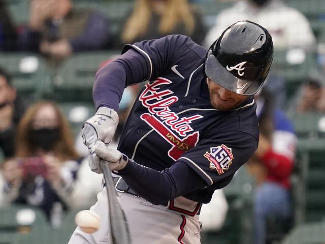 Freeman, Braves pound Cubs 13-4, lose Acuña to injury