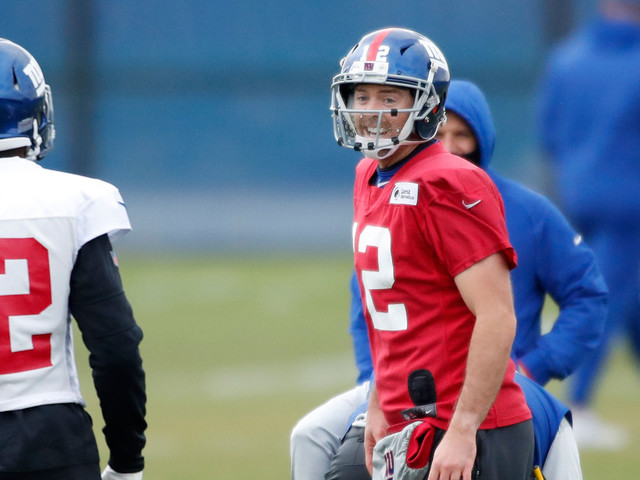Starting role has Colt McCoy seeing a new side of Giants
