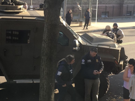 "ICE ""Tank"" Appears In Queens Sparking Leftist Outrage"