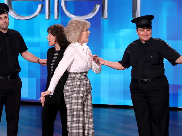 Jane Fonda & Lily Tomlin Discuss Their Recent Arrest (Video)