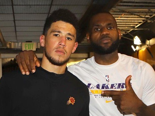 Devin Booker owns the world's last game-worn No. 23 LeBron James jersey