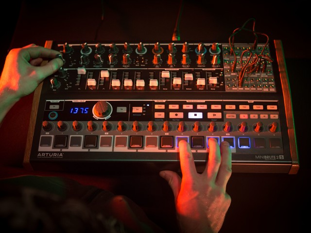 Arturia's MiniBrute 2S with step sequencer, not keys, might be your pick