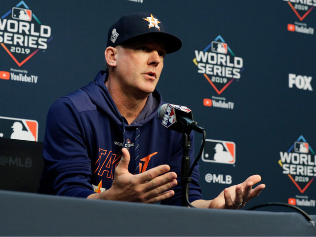 A.J. Hinch: 'I failed to stop' Astros' cheating