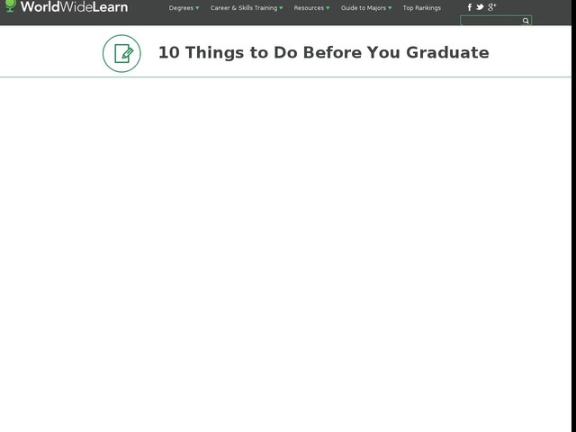 10 Things to Do Before You Graduate