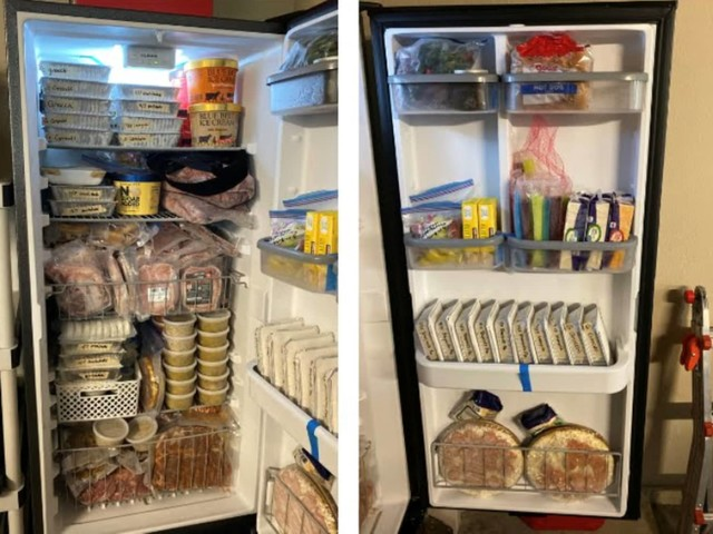 Expecting Mom Preps 425+ Meals Before Her Baby Arrives and You Need to See the Fridge