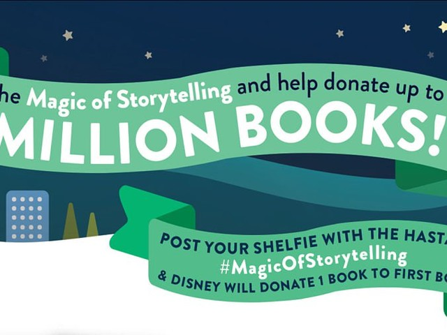 Disney Launches a Campaign with the Goal of Donating a Million Books