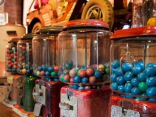 Antique Bubble Gum Machines