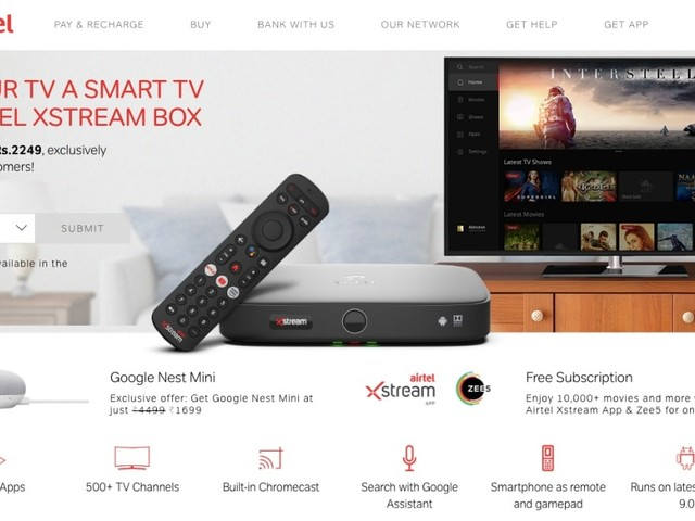 Airtel Promotion Offers Discounted Google Nest Mini to Xstream Box Buyers