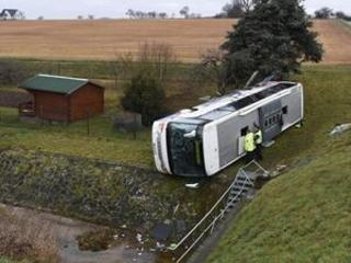 School bus crashes in Germany kill 2 children, hurt 14