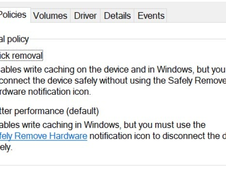 How to Disable the Safely Remove Hardware Feature on Windows 10