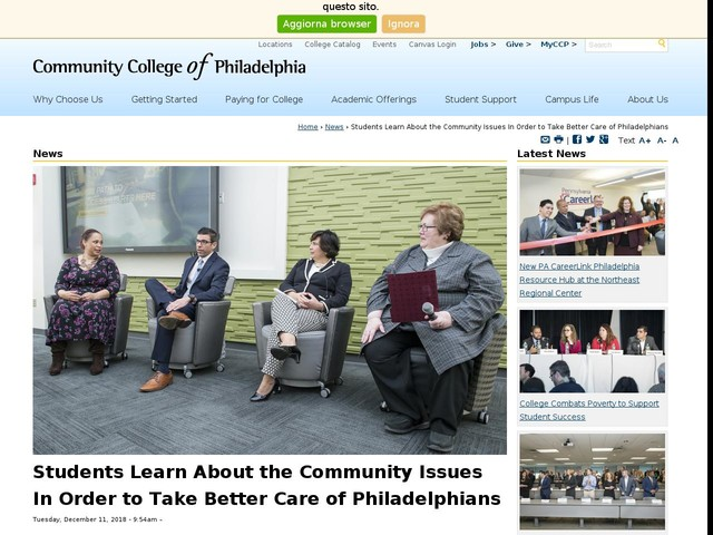 Students Learn About the Community Issues In Order to Take Better Care of Philadelphians