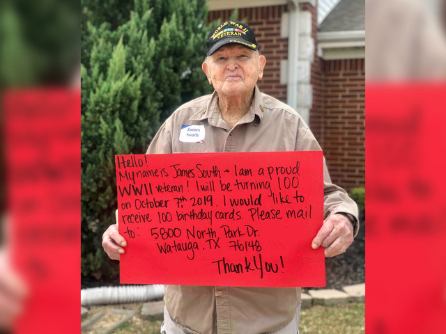 This WWII veteran is asking strangers for 100 cards on his 100th birthday
