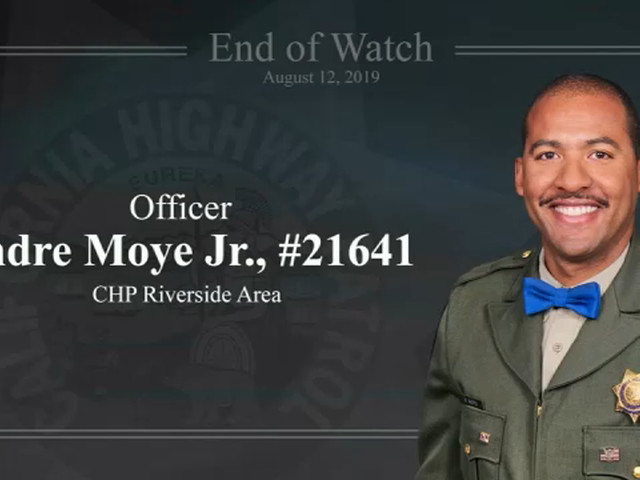 Fallen CHP Officer Andre Moye Jr. remembered at memorial service