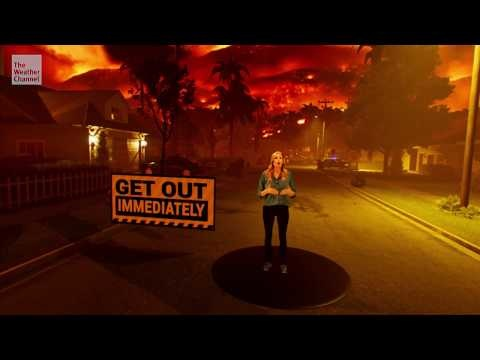 Weather Channel continues its terrifying mixed reality campaign with wildfire segment