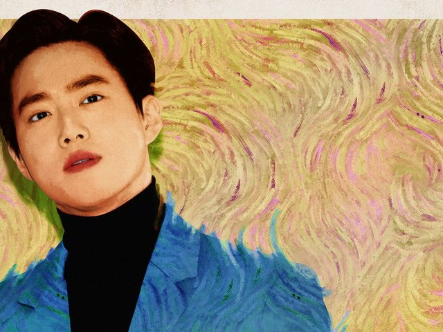 The Intricate Brushstrokes of Suho's 'Self-Portrait'