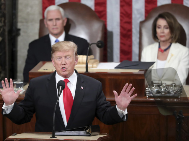 Trump calls for end of resistance politics in State of Union