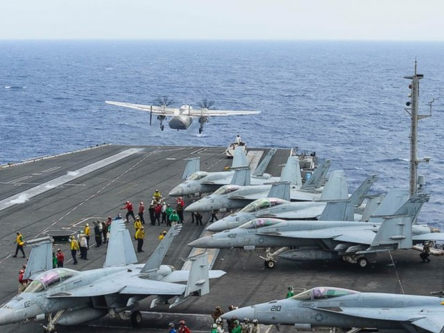 Ships, aircraft search for 3 US sailors missing in crash