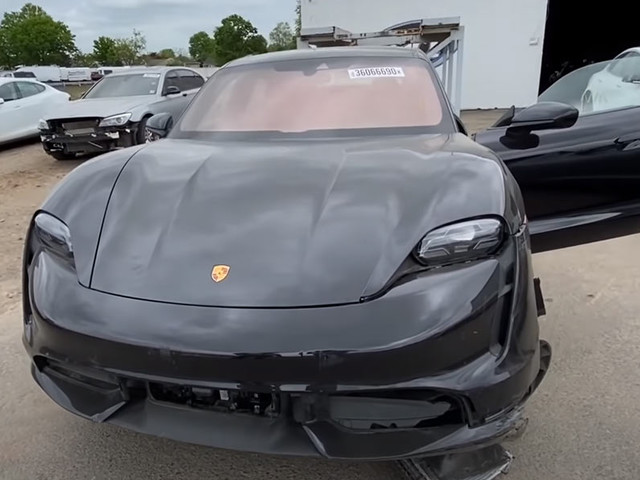 Going Through All The Damage Of This Wrecked Porsche Taycan Turbo Really Hurts