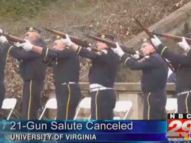 UVA reinstates 21-gun salute for Veterans Day after outcry; college had banned salute over 'panic' concerns due to 'gun violence in US'