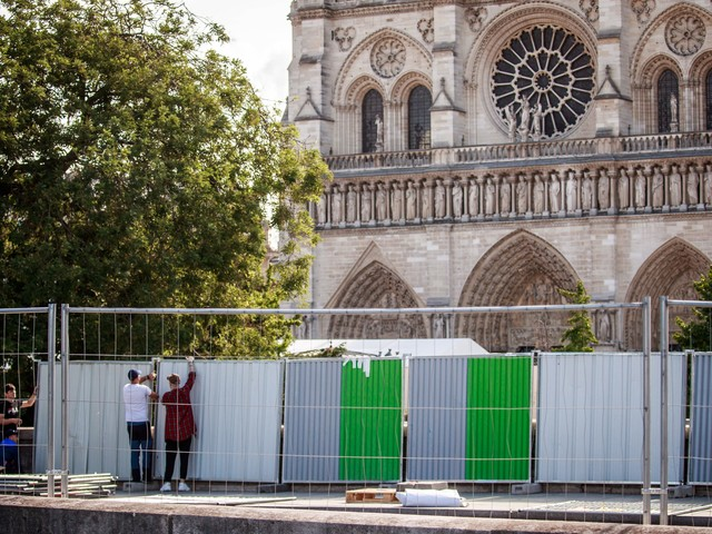 Paris shuts down streets around Notre Dame to remove lead contamination left by fire