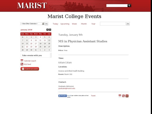 Jan 9 - MS in Physician Assistant Studies