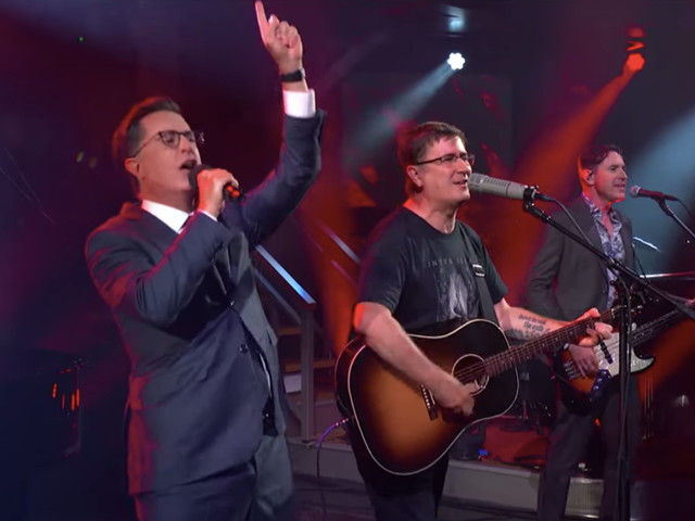 """Watch Stephen Colbert make it through """"This Year"""" with The Mountain Goats"""