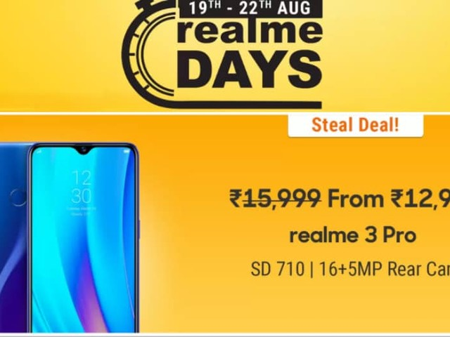 Realme Days Sale Kicks Off on Flipkart: Here Are the Top Offers