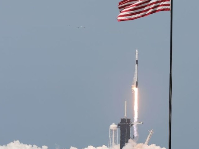 WATCH: SpaceX Falcon 9 rocket launches, carries first NASA astronauts into space in 9 years