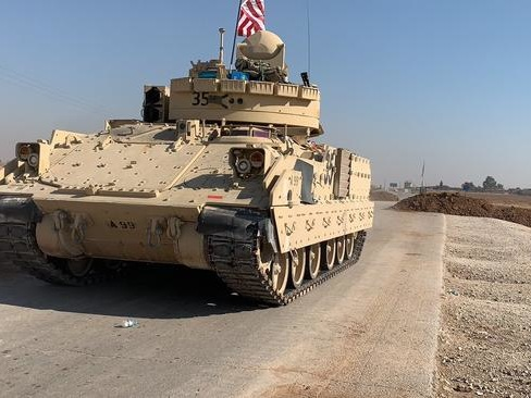 US Infantry Fighting Vehicles Appear In Northern Syria