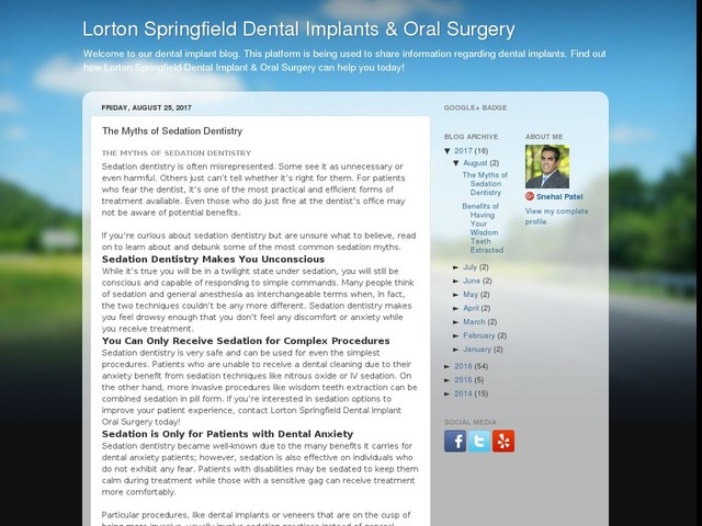 The Myths of Sedation Dentistry